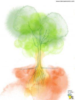 Ilustración de un árbol