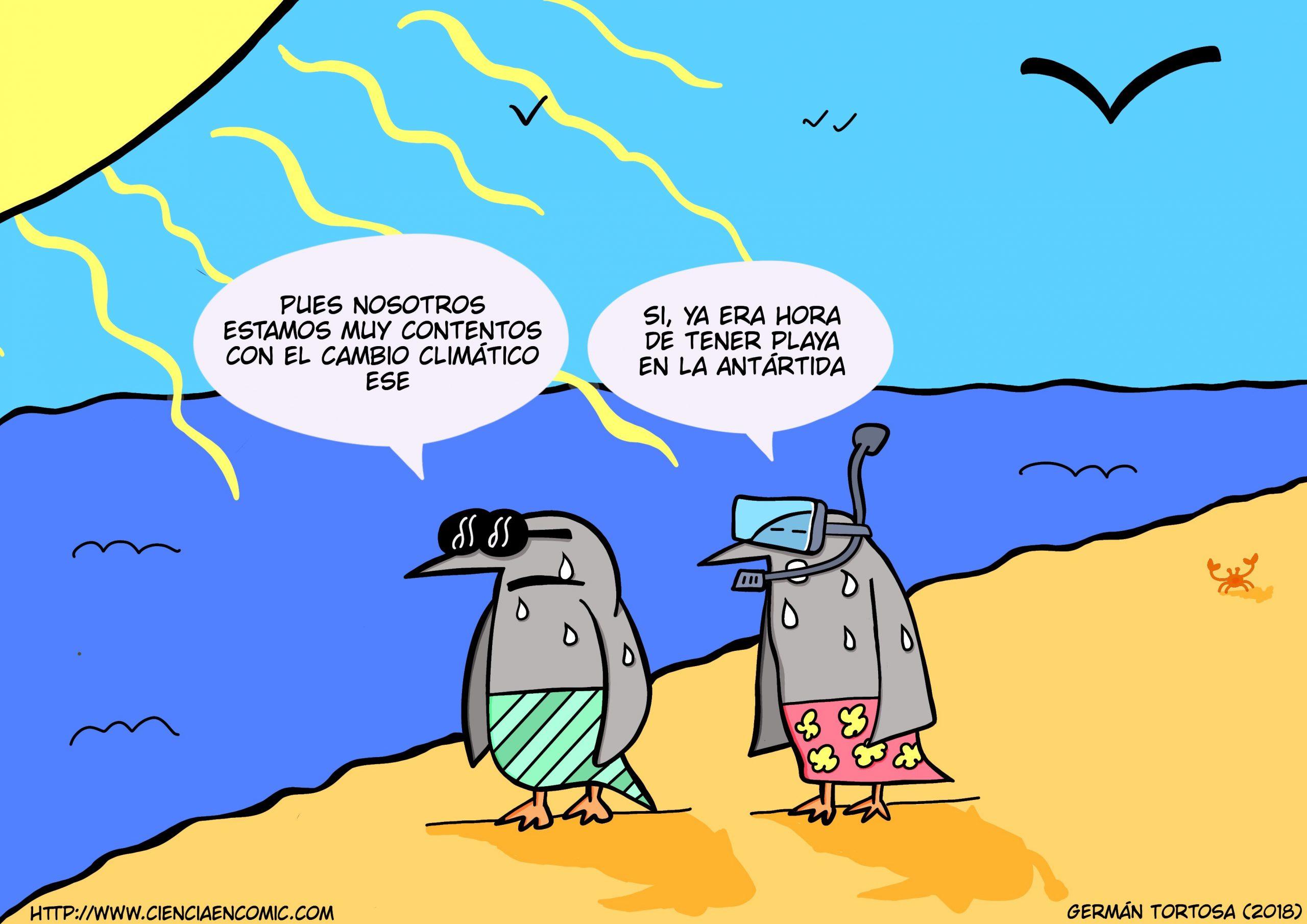 02) Humor gráfico: Los pingüinos quieren playa