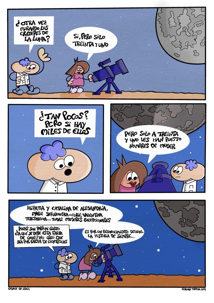 Cómic sobre las Mujeres que faltan en la Luna